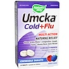 Nature's Way, Umcka, Cold + Flu, Berry Flavor, 20 Chewable Tablets