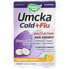Nature's Way, Umcka, Cold+Flu, Orange, 20 Chewable Tablets