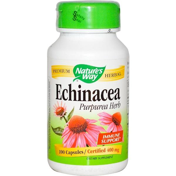Nature's Way, Echinacea Purpurea Herb, 400 mg, 100 Capsules (Discontinued Item)