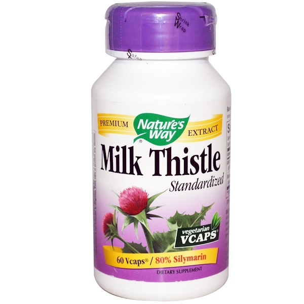 Nature's Way, Milk Thistle, Standardized, 60 VCaps (Discontinued Item)