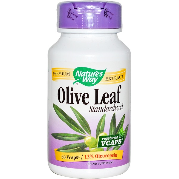 Nature's Way, Olive Leaf, Standardized, 60 Vcaps (Discontinued Item)