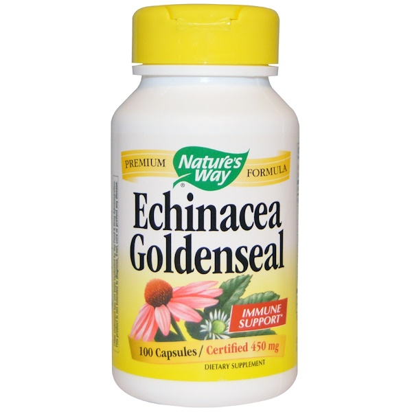 Nature's Way, Echinacea Goldenseal, 450 mg, 100 Veggie Caps (Discontinued Item)