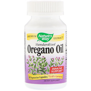 Nature's Way, Oregano Oil, Standardized, 60 Vegetarian Capsules
