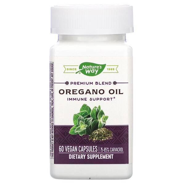 Nature's Way, Premium Blend, Oregano Oil, 60 Vegan Capsules