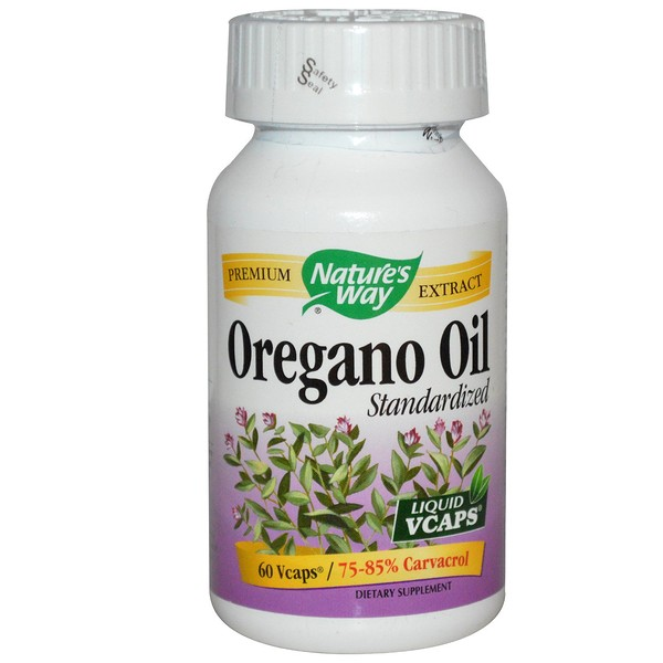 Nature's Way, Oregano Oil, Standardized, 60 Veggie Caps