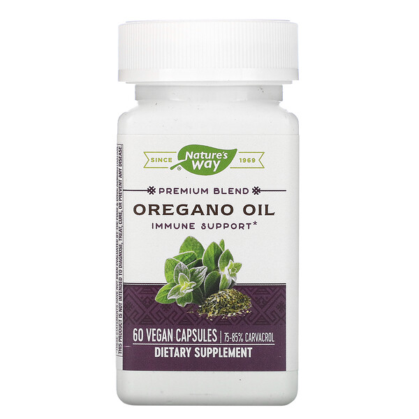 Premium Blend, Oregano Oil, 60 Vegan Capsules