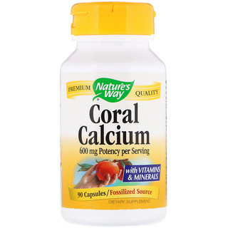 Nature's Way, Coral Calcium, 600 mg, 90 Capsules