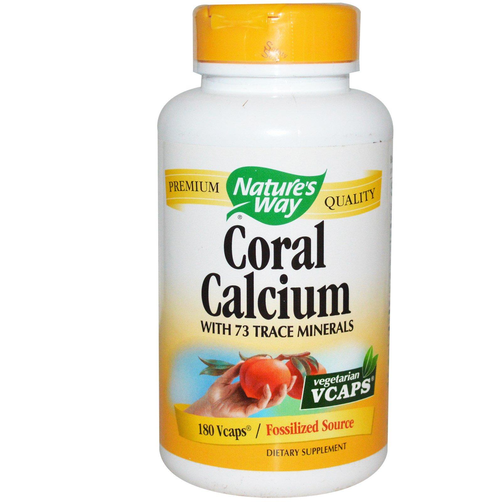 Nature's Way, Коралловый кальций, 180 растительных капсул