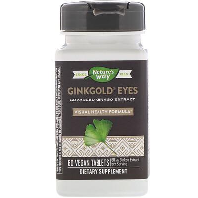 Купить Ginkgold Eyes, 60таблеток растительного происхождения