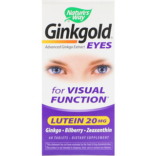 Nature's Way, Ginkgold Eyes, 60 comprimidos