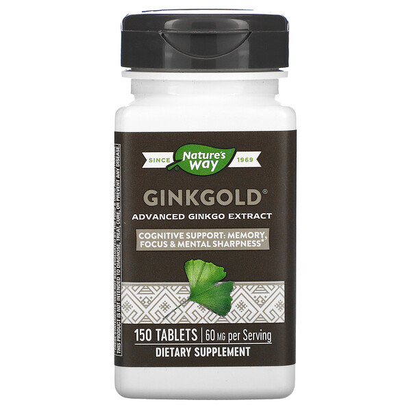Ginkgold, Advanced Ginkgo Extract, 60 mg, 150 Tablets