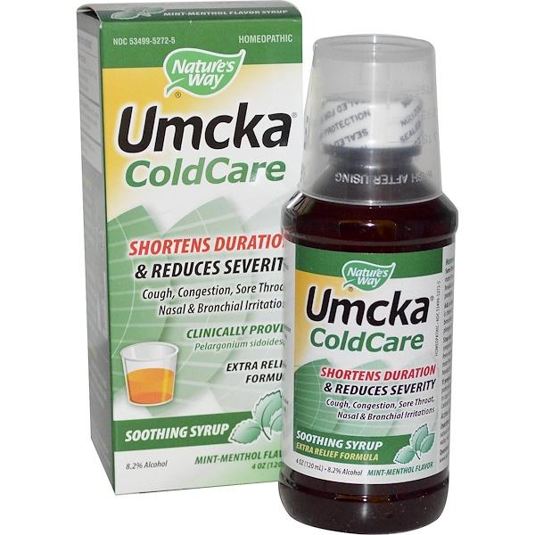 Nature's Way, Umcka, ColdCare, Mint-Menthol Flavor, 4 oz (120 ml) (Discontinued Item)