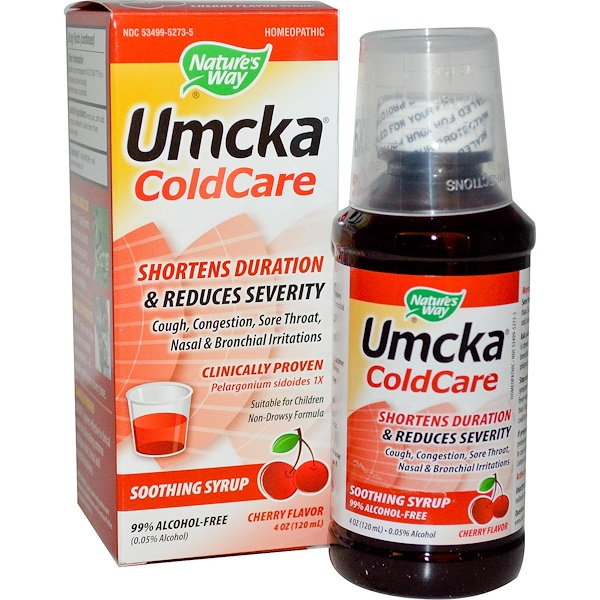 Nature's Way, Umcka, ColdCare, Cherry Flavor, 4 fl oz (120 ml)