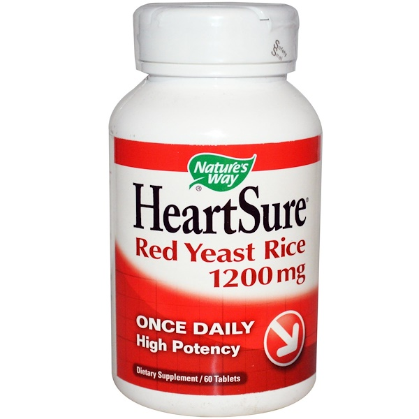 Nature's Way, HeartSure, Red Yeast Rice, 1200 mg, 60 Tablets (Discontinued Item)