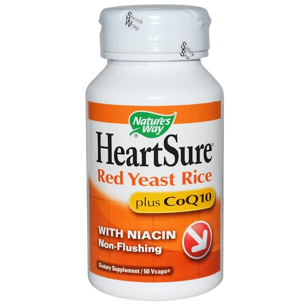 Nature's Way, HeartSure, Red Yeast Rice, Plus CoQ10, 60 Vcaps (Discontinued Item)