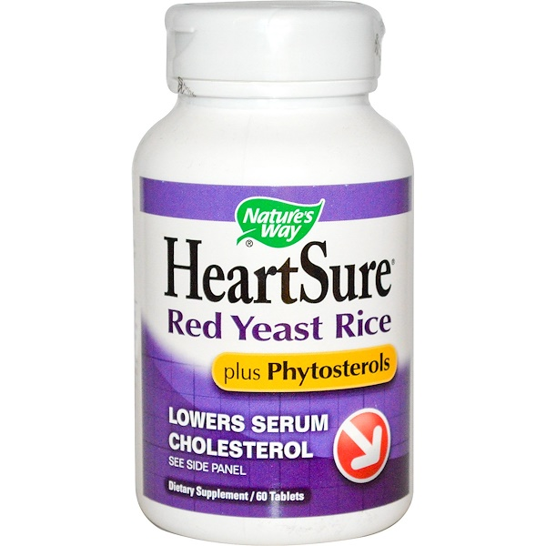 Nature's Way, HeartSure, Red Yeast Rice, Plus Phytosterols, 60 Tablets (Discontinued Item)