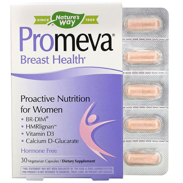 Promeva, Breast Health, 30 Vegetarian Capsules