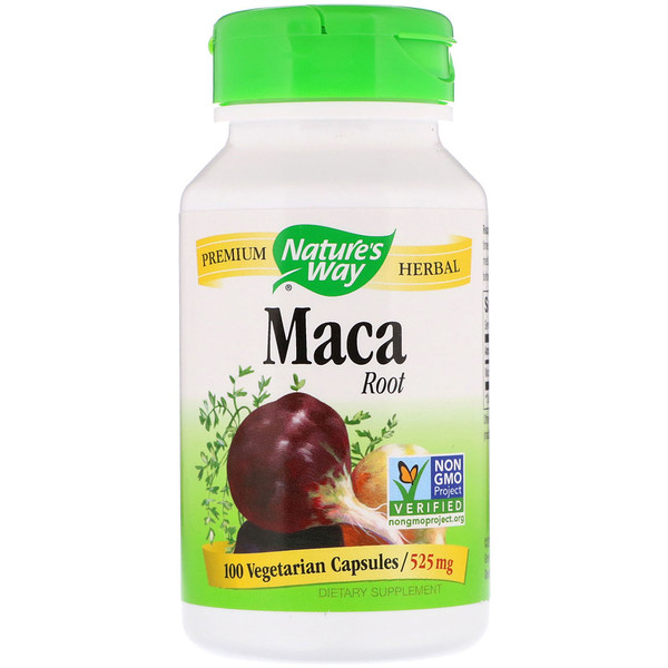 Nature's Way, Maca Root, 525 mg, 100 Vegetarian Capsules