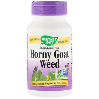 Nature's Way, Horny Goat Weed, Standardized, 60 Vegetarian Capsules