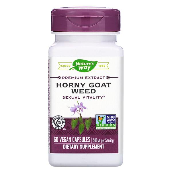 Horny Goat Weed, 500 mg, 60 Vegan Capsules