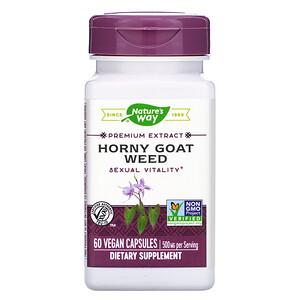 Натурес Вэй, Horny Goat Weed, 500 mg, 60 Vegan Capsules отзывы покупателей
