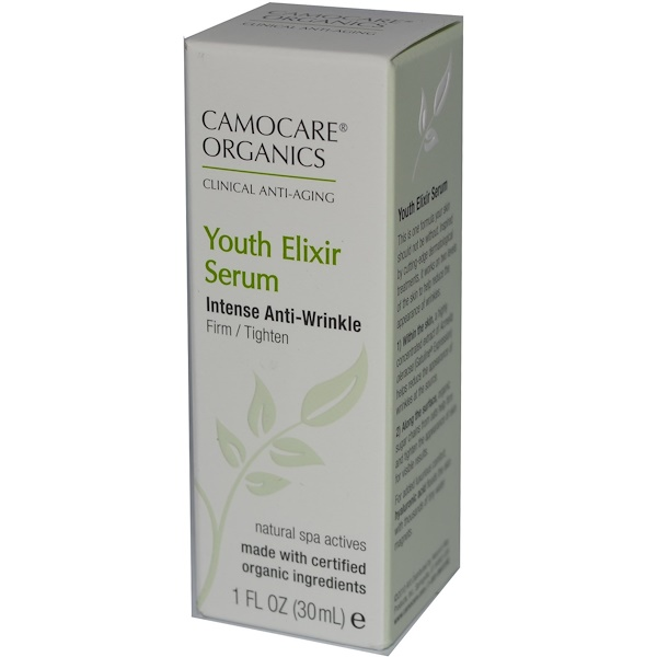 Nature's Way, CamoCare Organics, Youth Elixir Serum, Intense Anti-Wrinkle, 1 fl oz (30 ml) (Discontinued Item)