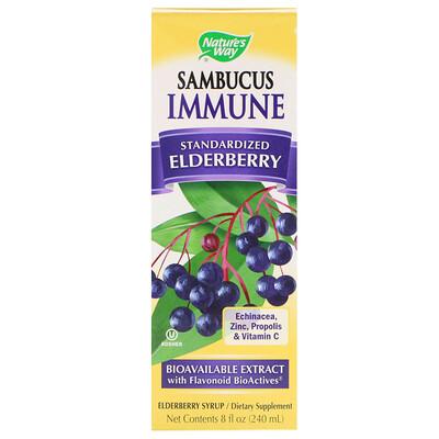 Купить Sambucus Immune, сироп из бузины, 8 жидких унций (240 мл)