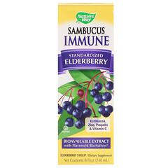Nature's Way, Sambucus Immune, сироп из бузины, 8 жидких унций (240 мл)