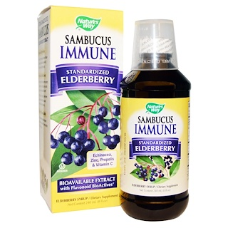 Nature's Way, Sambucus Immune, Elderberry Syrup, 8 fl oz (240 ml)