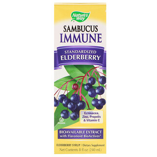 Nature's Way, Sambucus Immune, Xarope de Sambucus, 8 fl oz (240 ml)