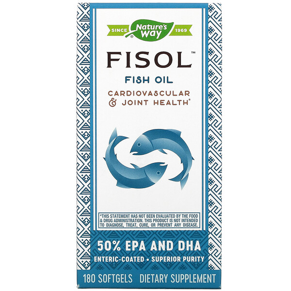 Fisol, Fish Oil, 180 Softgels