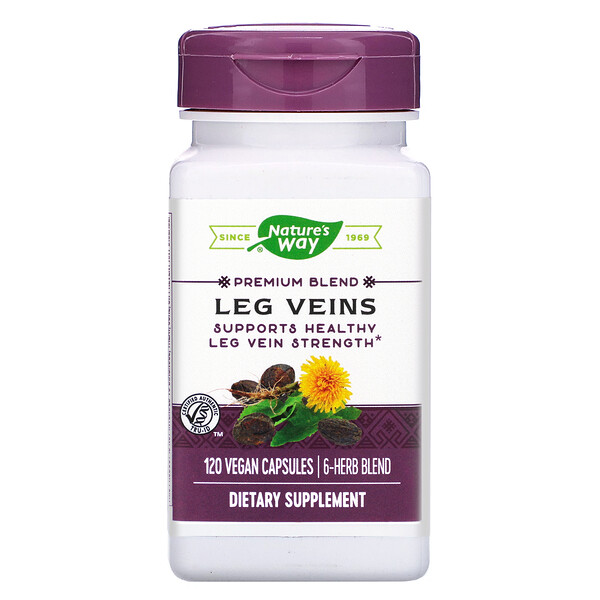 Nature's Way, Leg Veins, Premium Blend, 120 Vegan Capsules