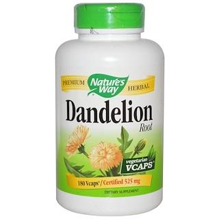 Nature's Way, Dandelion Root, 525 mg, 180 Veggie Caps