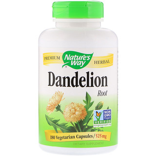 Nature's Way, Dandelion Root, 525 mg, 180 Vegetarian Capsule