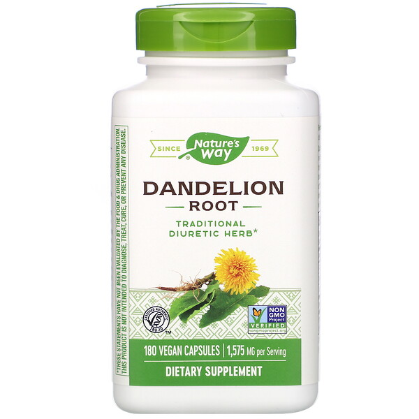 Nature's Way, Dandelion Root, 1,575 mg, 180 Vegan Capsules
