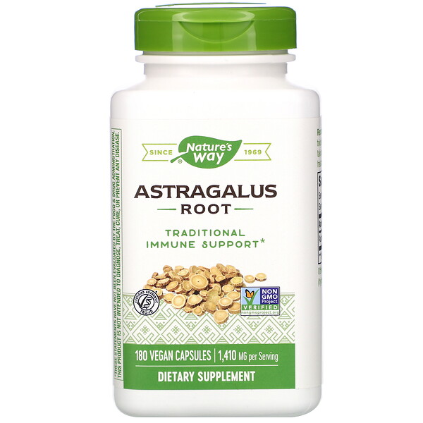 Nature's Way, Raiz de Astrágalo, 470 mg, 180 Cápsulas Vegetais