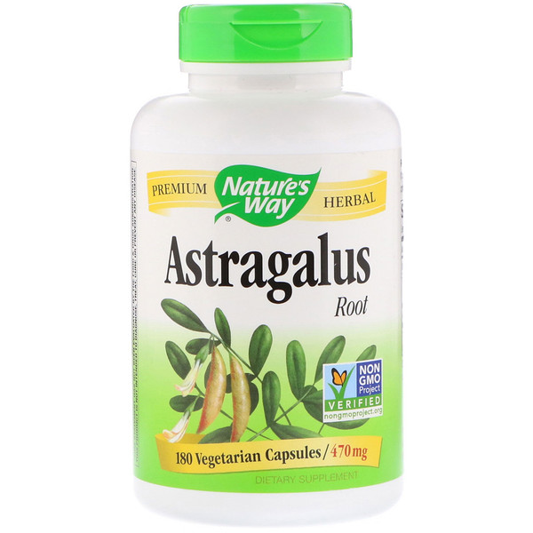 Nature's Way, Astragalus Root, 470 mg, 180 Vegetarian Capsules
