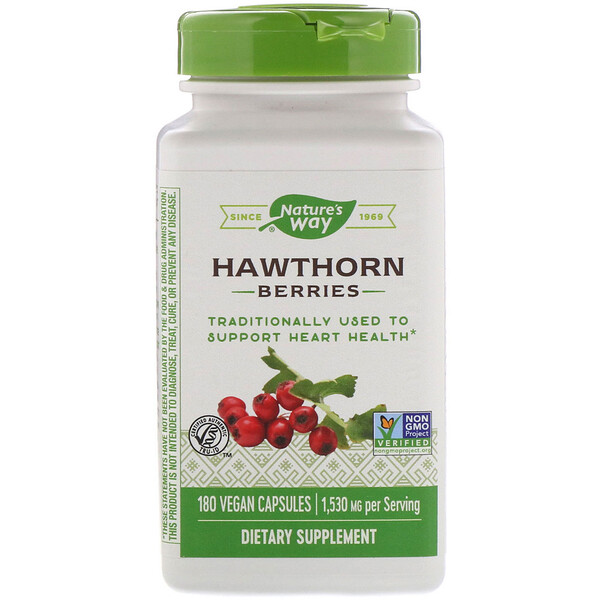 Nature's Way, Hawthorn Berries, 1,530 mg, 180 Vegan Capsules