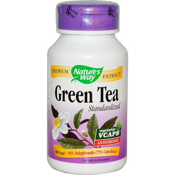 Nature's Way, Green Tea, Standardized, 60 Veggie Caps (Discontinued Item)