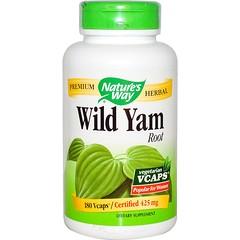 Nature's Way, Wild Yam Root, 425 mg, 180 Veggie Caps