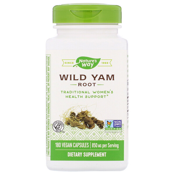 Nature's Way, Wild Yam Root, 850 mg, 180 Vegan Capsules