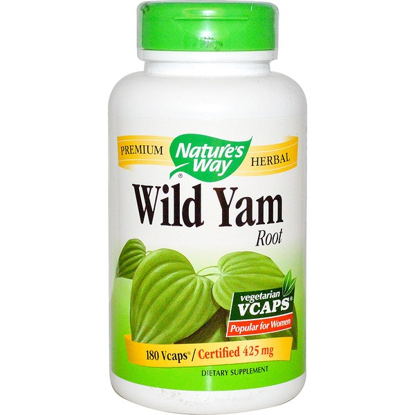 Nature's Way, Wild Yam Root, 425 mg, 180 Vegetarian Capsules