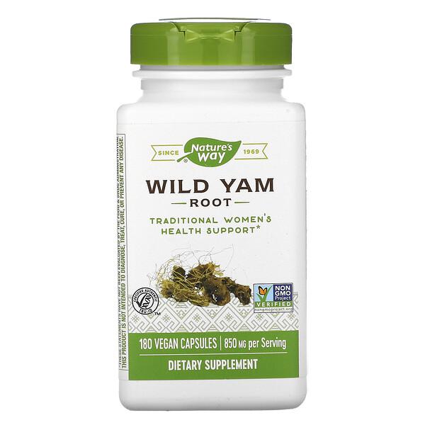 Wild Yam Root, 850 mg, 180 Vegan Capsules