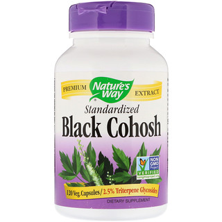 Nature's Way, Black Cohosh, Standardized, 120 Veg. Capsules