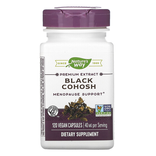 Nature's Way, Black Cohosh, 40 mg, 120 Vegan Capsules