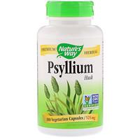 Psyllium, Husks, 525 mg, 180 Vegetarian Capsules - фото