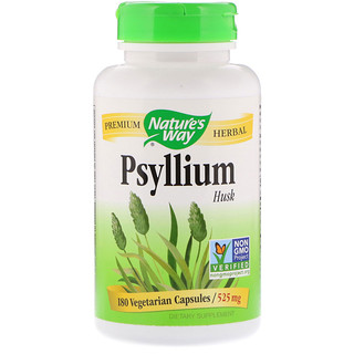 Nature's Way, Psyllium Husk, 525 mg, 180 Vegetarian Capsules