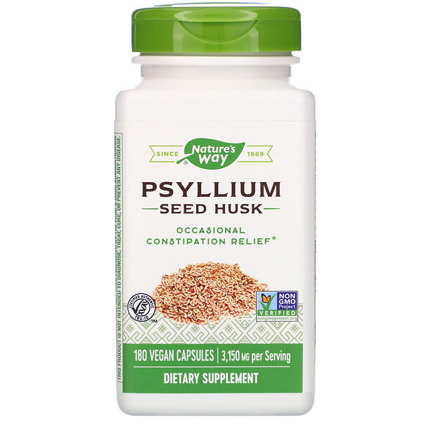 Nature's Way, Psyllium Seed Husk, 3,150 mg, 180 Vegan Capsules