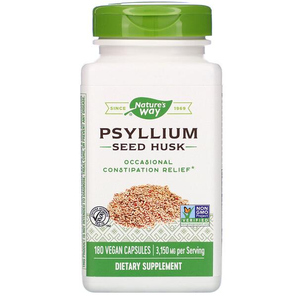Psyllium Seed Husk, 3,150 mg, 180 Vegan Capsules