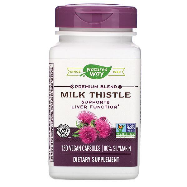 Nature's Way, Milk Thistle, Standardized, 120 Veg. Capsules